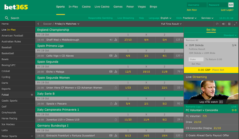 bet 365 games variety